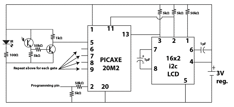 PICAXE Photo gate timer i2c LCD 2014 photo gate timer shawnreeveswiki  at suagrazia.org